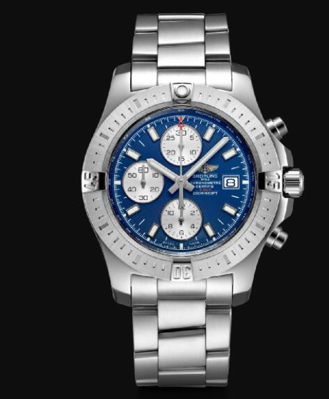 Breitling Colt 44 Chronograph Automatic Stainless Steel - Blue Men Replica Watch A13388111C1A1