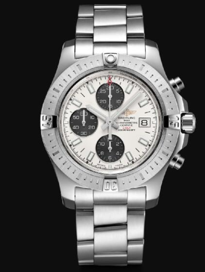 Breitling Colt 44 Chronograph Automatic Stainless Steel - Silver Men Replica Watch A13388111G1A1