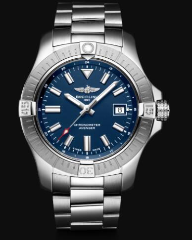 Replica Breitling Avenger Automatic 43 Stainless Steel - Blue Bold Watch A17318101C1A1