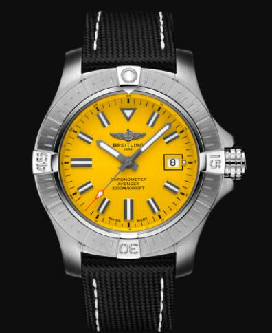 Replica Breitling Avenger Automatic 45 Seawolf Stainless Steel - Yellow Watch A17319101I1X2