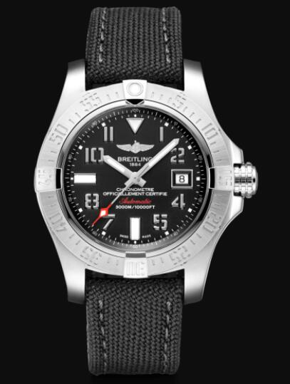 Breitling Avenger II Seawolf Stainless Steel - Black Replica Watch A17331101B1W1