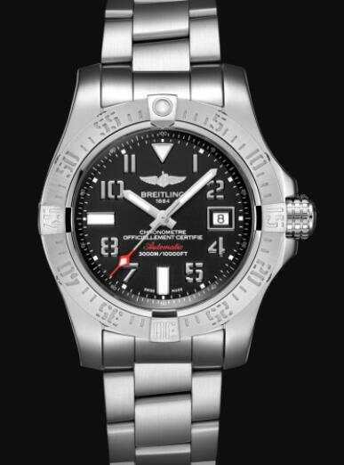 Breitling Avenger II Seawolf Stainless Steel - Black Replica Watch A17331101B2A1