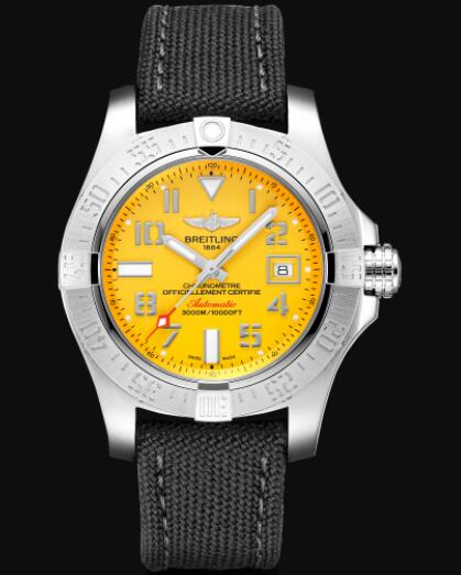 Breitling Avenger II Seawolf Stainless Steel - Yellow Replica Watch A17331101I1W1