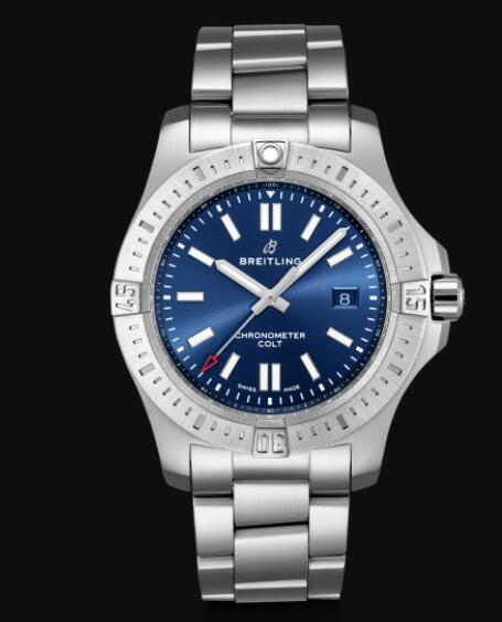 Breitling Colt 44 Automatic Stainless Steel - Blue Men Replica Watch A17388101C1A1