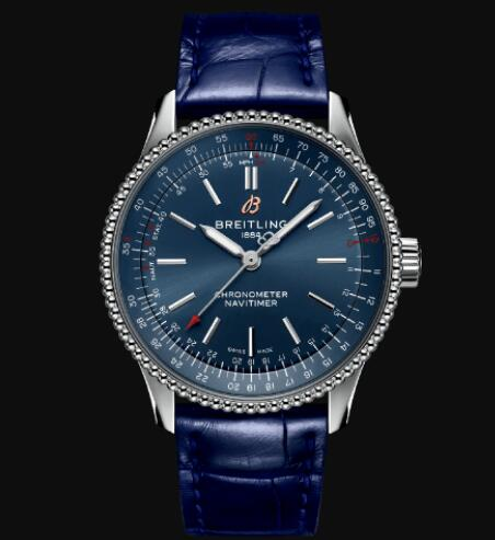 Breitling Navitimer Automatic 35 Stainless Steel - Blue Replica Watch A17395161C1P1