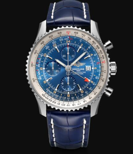 Breitling Navitimer Chronograph GMT 46 Stainless Steel - Blue Replica Watch A24322121C1P1