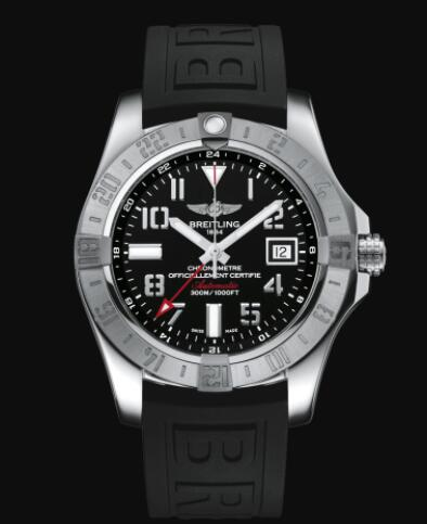 Replica Breitling Avenger II GMT Stainless Steel - Black Watch A32390111B2S2
