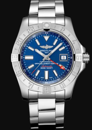 Replica Breitling Avenger II GMT Stainless Steel - Blue Watch A32390111C1A1