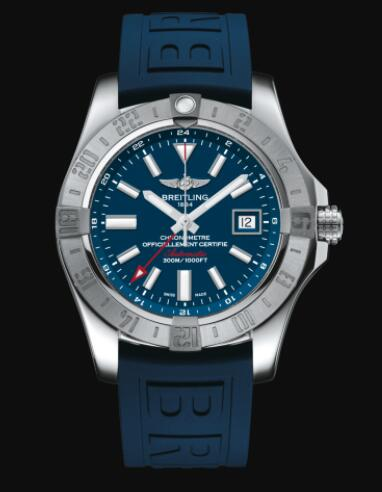 Replica Breitling Avenger II GMT Stainless Steel - Blue Watch A32390111C1S2