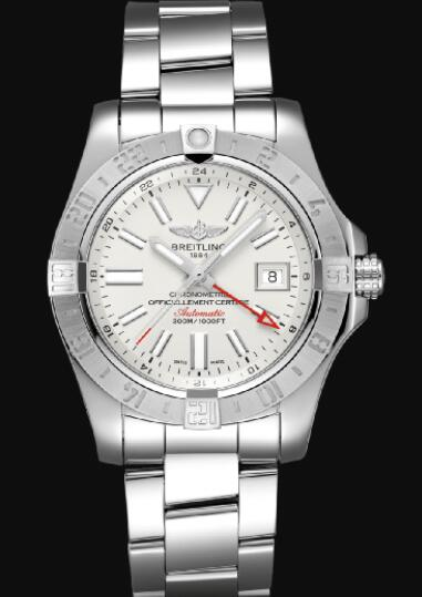 Replica Breitling Avenger II GMT Stainless Steel - Silver Watch A32390111G1A1