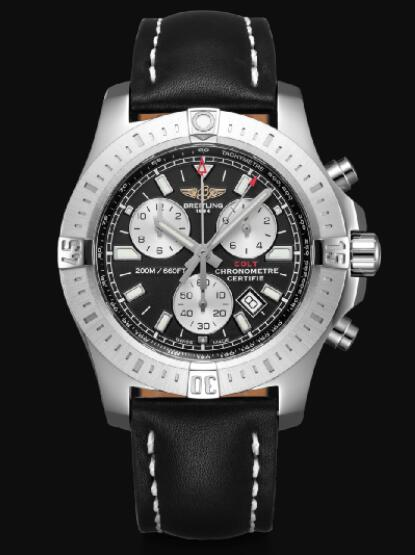 Breitling Colt 44 Chronograph Stainless Steel - Black Men Replica Watch A73388111B1X1