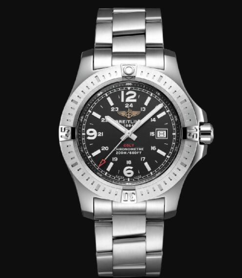 Breitling Colt 44 Quartz Stainless Steel - Black Men Replica Watch A74388111B1A1