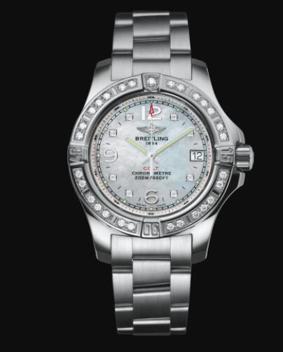 Breitling Colt Lady 33 Stainless Steel - Mother-Of-Pearl Replica Watch A77388531A1A1