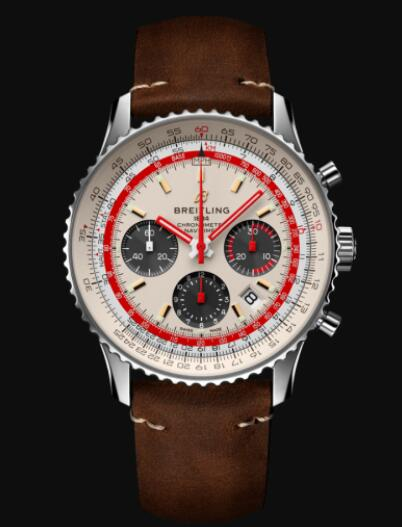 Breitling Navitimer B01 Chronograph 43 TWA Stainless Steel - White Replica Watch AB01219A1G1X1