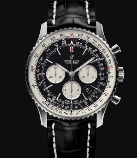 Breitling Navitimer B01 Chronograph 46 Stainless Steel - Black Replica Watch AB0127211B1P1