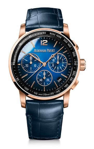Replica Audemars Piguet CODE 11.59 Chronograph Selfwinding Pink Gold Blue 26393OR.OO.A028CR.01 watch