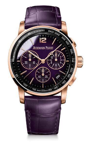 Audemars Piguet CODE 11.59 Chronograph Selfwinding Pink Gold Purple Replica 26393OR.OO.A616CR.01 watch