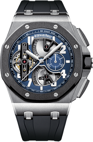 Replica Audemars Piguet TOURBILLON CHRONOGRAPH PLATINUM 26388PO.OO.D027CA.01 watch
