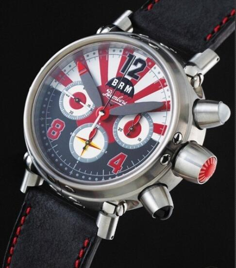 Replica Watch B.R.M Bombers-45-G-JP B.R.M Watch Bombers BOMBERS-45-G-JP Brushed Stainless Steel - Leather Strap