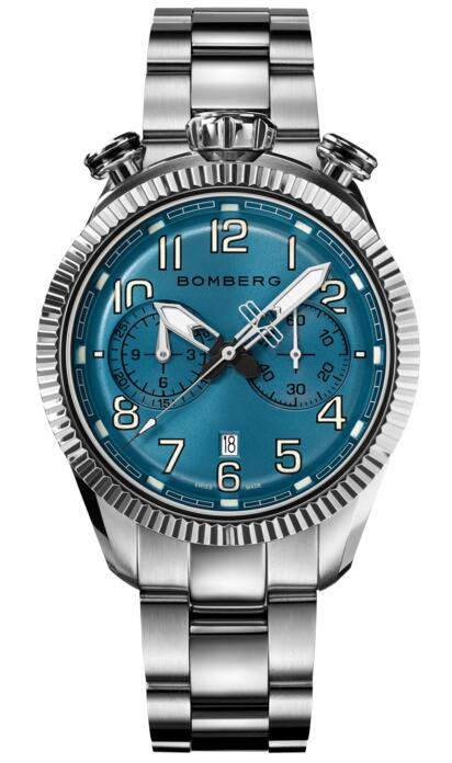 Bomberg BB-68 SMOKED LIGHT BLUE NS44CHSS.204.9 Fake watch