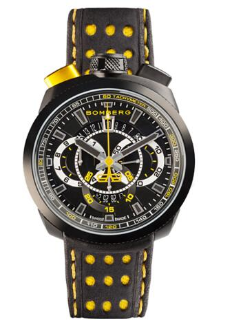 Bomberg Bolt-68 BS45CHPBA.015.3 quartz chronograph replica watch