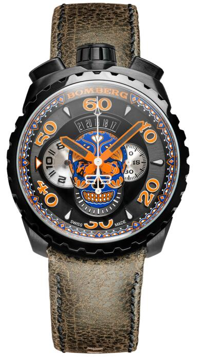 Bomberg Bolt-68 Blue Skull Chronograph BS45CHPBA.051.3 Replica watch