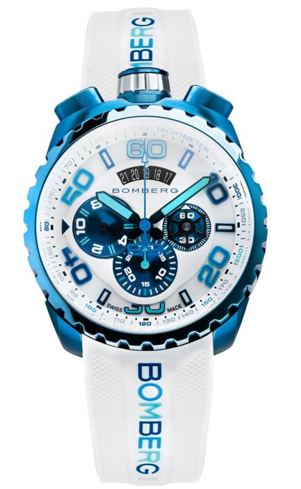 Fake Bomberg BOLT-68 CHROMA ICE BLUE BS45CHPBL.049-2.3 watch for sale