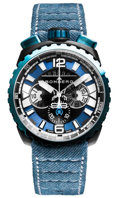 Bomberg Bolt-68 Gun Sky Blue BS45CHPBLGM.050-3.3 Replica mens watch