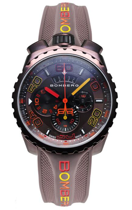 Bomberg Bolt-68 Chroma II BS45CHPBR.049-4.3 Chocolate Chronograph Replica mens watch