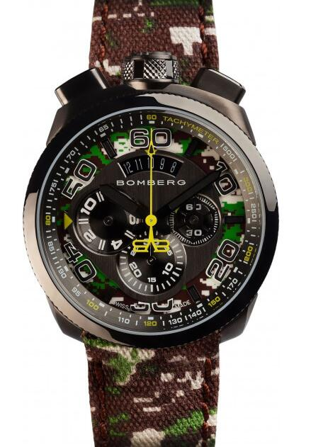 Replica Bomberg Bolt-68 BS45CHPGM.038.3 Camo Khaki Chronograph watches price