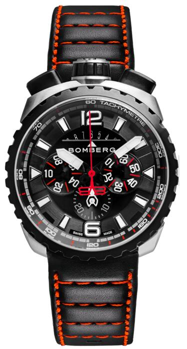 Bomberg Bolt-68 BS45CHSP.050-4.3 Black & Red Chronograph Replica watch