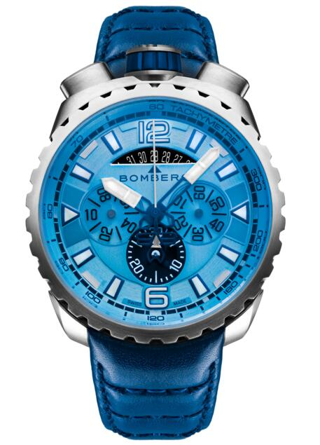 Fake Bomberg Bolt-68 BS45CHSS.050-7.3 Steel Blue Sapphire Chronograph watch