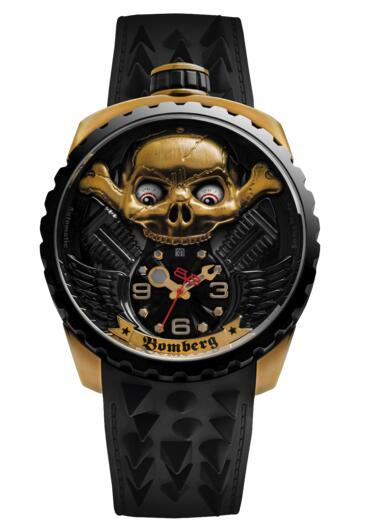 Bomberg BOLT-68 Skull Rider Hell Gold BS47APBA.056-2.3 Watch replica