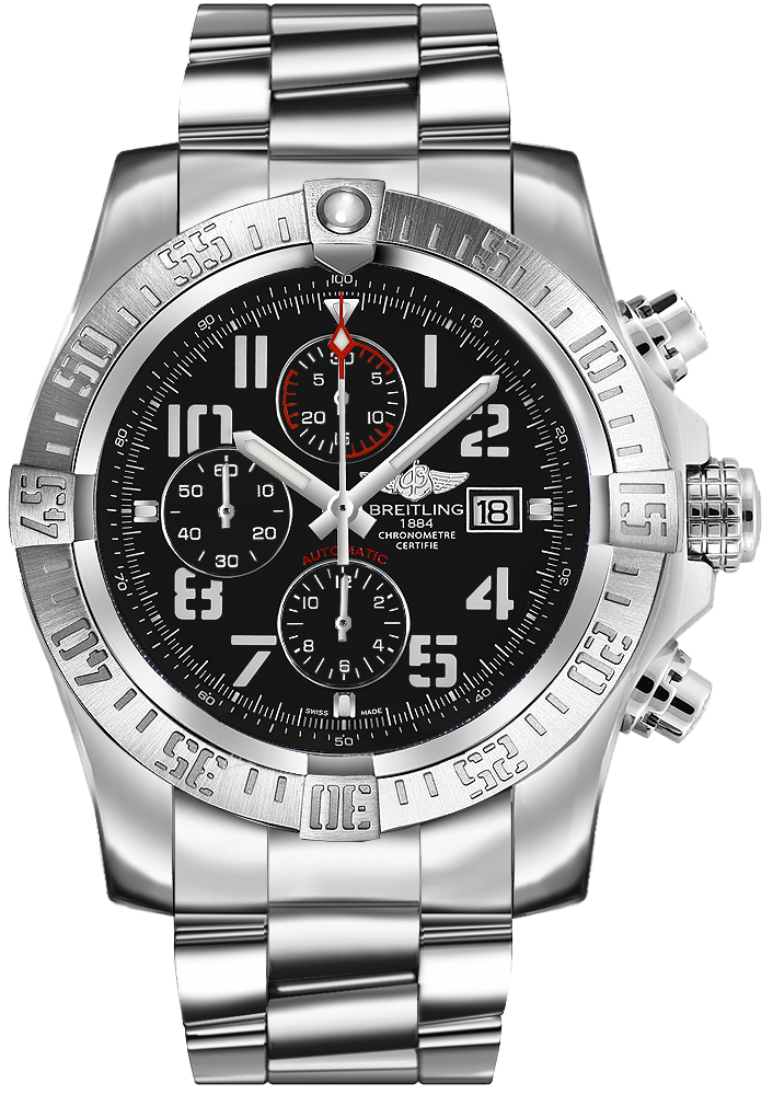Breitling Super Avenger II Steel Volcano Black A13371111B2A1 fake watch