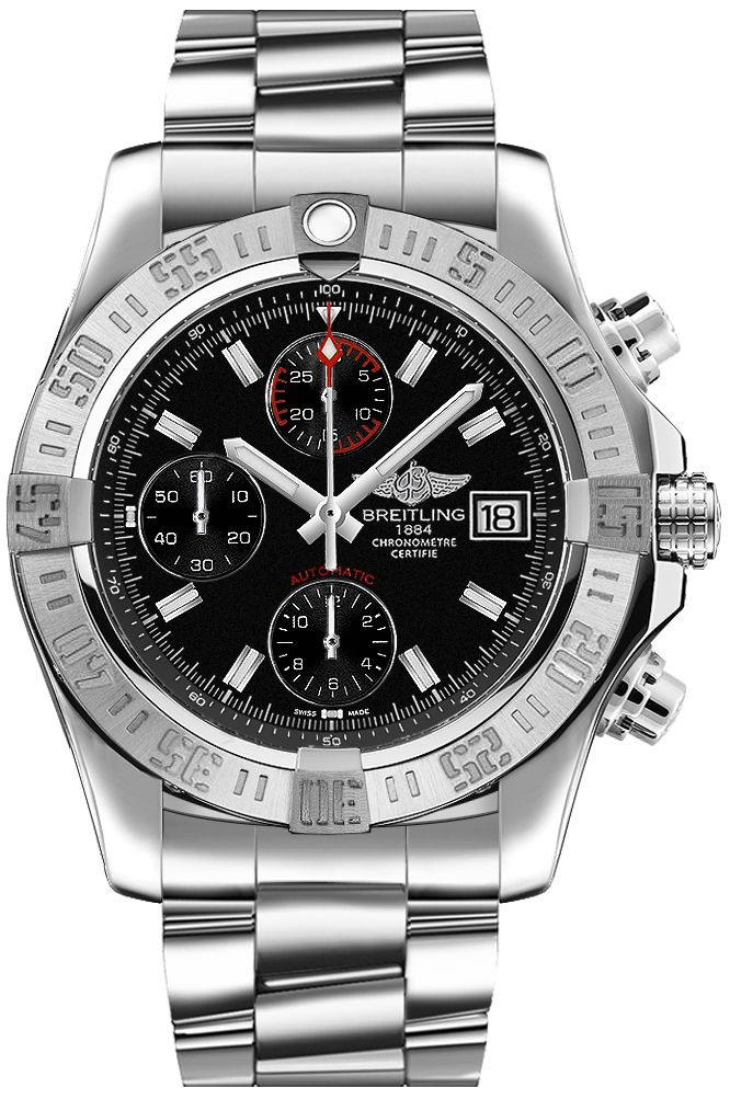 fake Breitling Avenger II Black Dial Men's Watch A1338111/BC32-170A