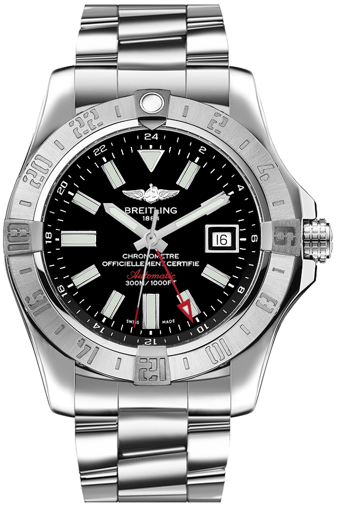 replica Breitling Avenger II GMT Black Dial Men's Watch A32390111B1A1