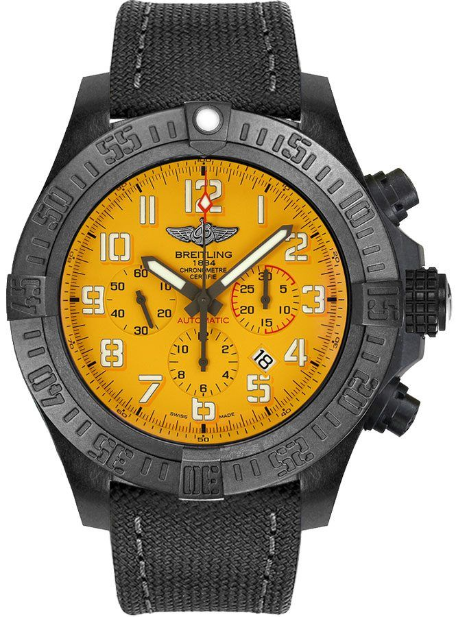 replica Breitling Avenger Hurricane Yellow Dial Men's Watch XB0170E4/I533-100W