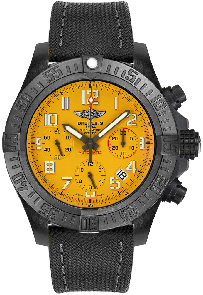 fake Breitling Avenger Hurricane 45 Cobra Yellow Men's Watch XB0180E41I1W1