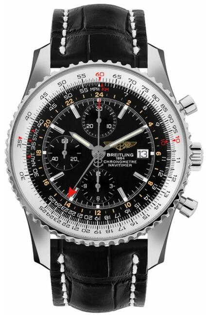 Replica Breitling Navitimer World A2432212/B726-761P Black Dial Men watch