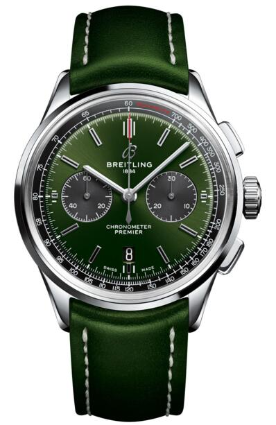 Breitling replica AB0118A11L1X1 Premier B01 Chronograph 42 Bentley British Racing Green watch