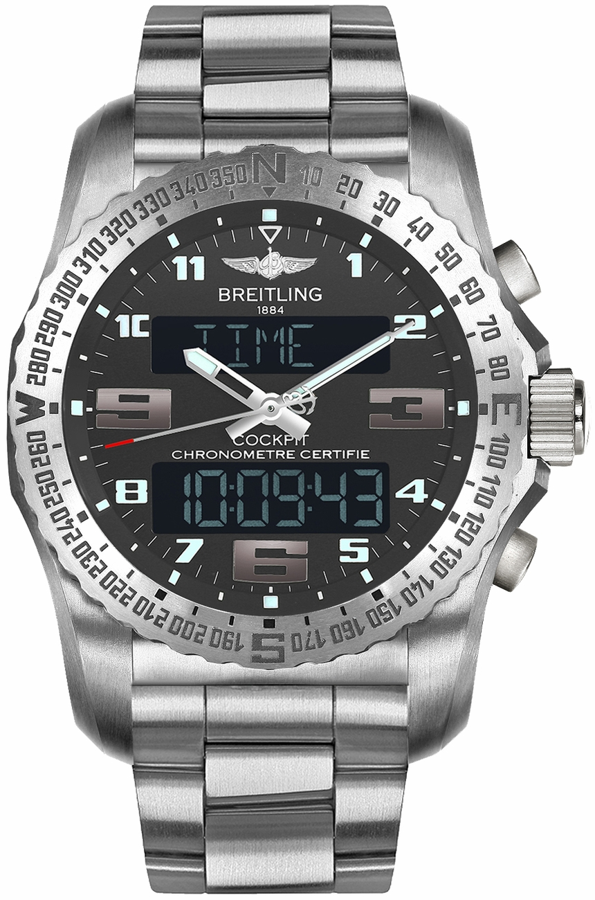 fake Breitling Cockpit B50 Genuine Men's Watch EB5010B1/M532-176E