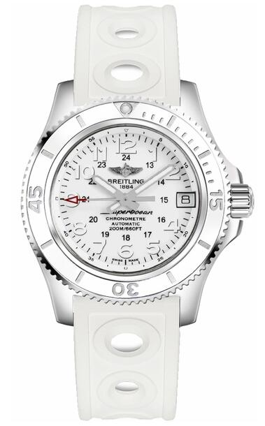 Breitling Superocean II 36 A17312D2-A775-230S White Rubber Strap watch price