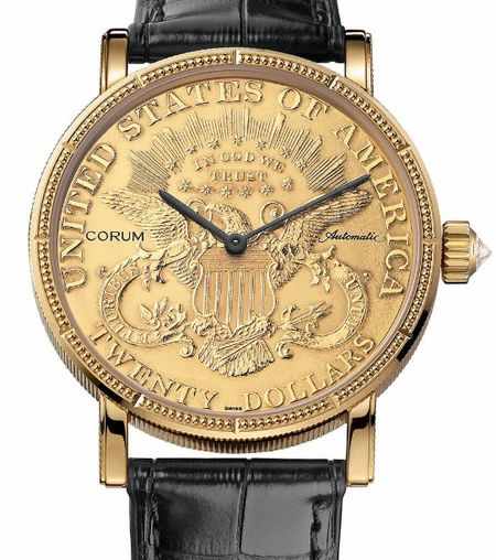 Corum C293 / 00831 - 293.645.56 / 0001 MU51 Coin $ 20 Gold Coin fake watches