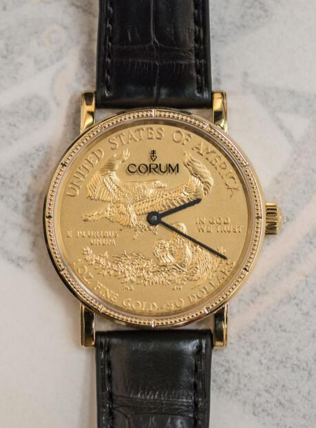Corum 082.645.56 / 0001 MU52 Coin 50 $ Gold 50th Anniversary Edition C082 / 02481 36mm watch replicas