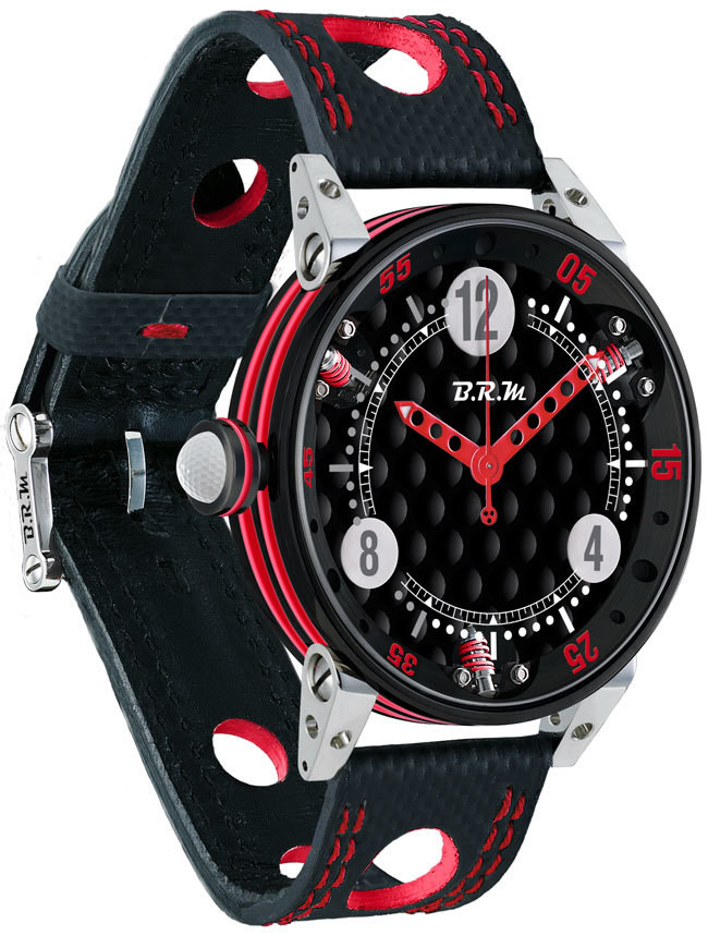 Brm Gulf Watch Replica BRM 6-44 Golf Black Dial Red GF6-44-SA-N-AR