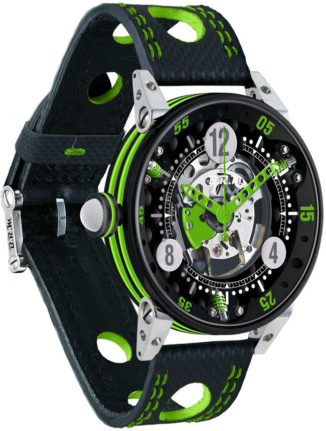 Brm Gulf Watch Replica BRM 6-44 Golf Black Dial Green GF6-44-SA-N-SQ-AVP