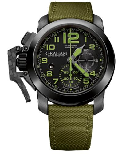 Graham Chronofighter Oversize Amazonia Green 2CCAU.G01A replica watch