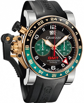 Graham Chronofighter Oversize GMT 2OVGG.B16A.K10S Black BRG Steel & Gold Replica watch