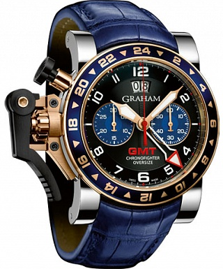 Graham Chronofighter Oversize GMT 2OVGG.B26A Blue Steel & Gold Replica watch