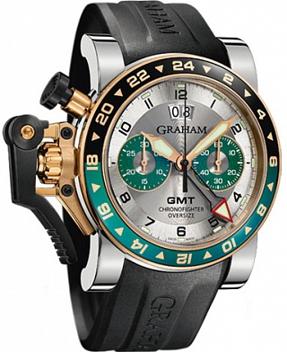 Graham Chronofighter Oversize GMT 2OVGG.S06A.K10S Silver BRG Steel & Gold Replica watch